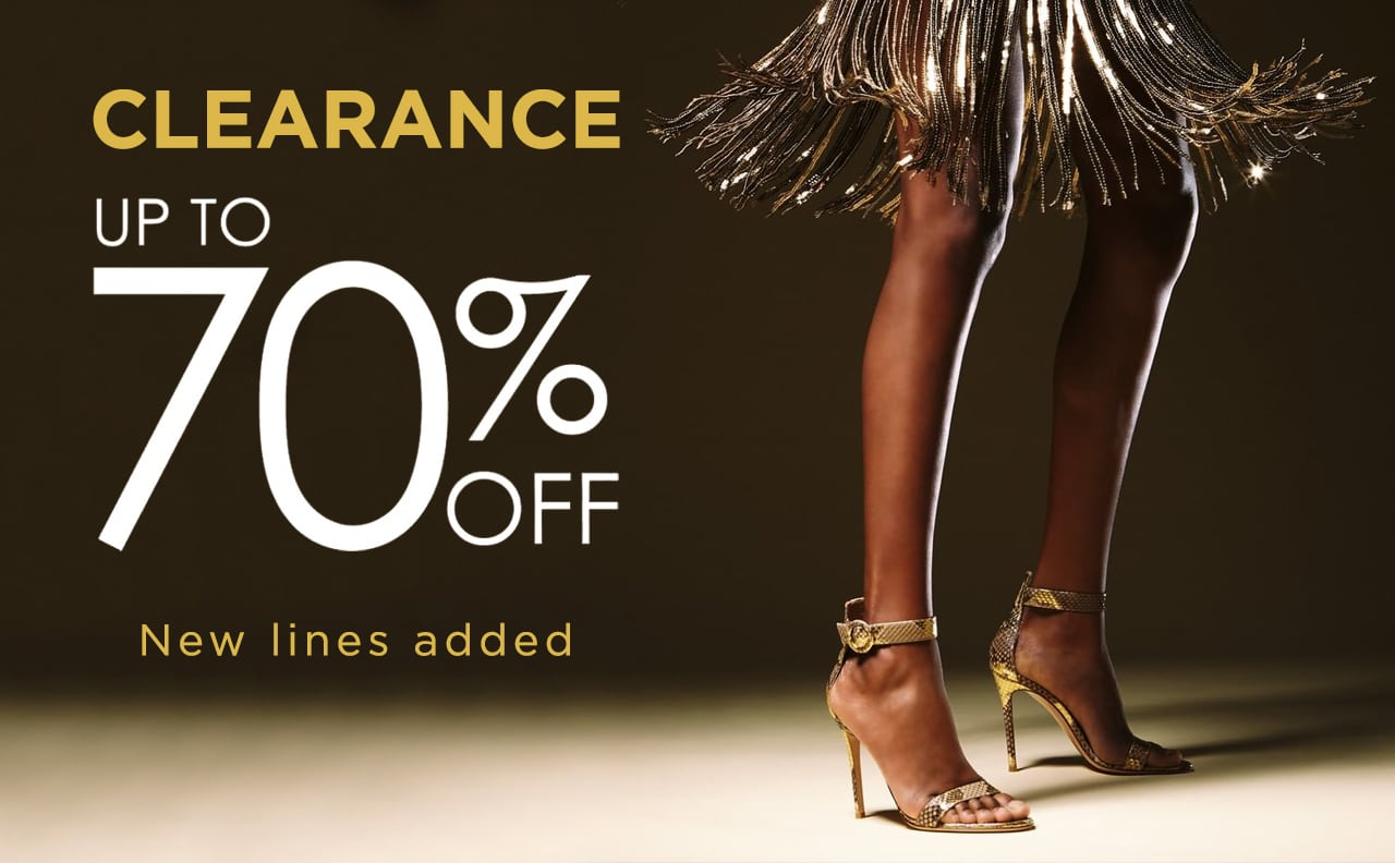 clearance up to 70% off - New lines added