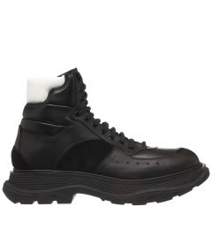 ALEXANDER MCQUEEN LEATHER UPPER AND RU 627221WHRH6 SNEAKER MID