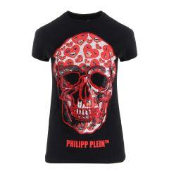 PHILIPP PLEIN T-SHIRT ROUND NECK SS WTK1945 PTE003N