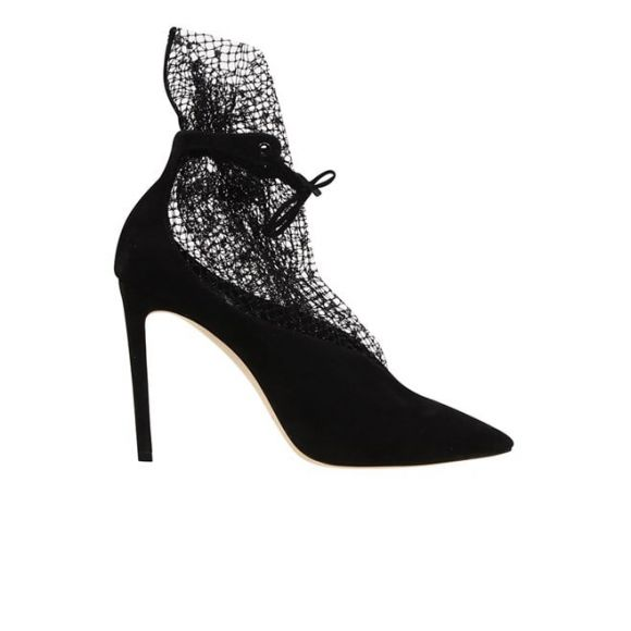 JIMMY CHOO Ankle Boot 100 LEANNE 100 UDX ΜΕΣΑΙΟ