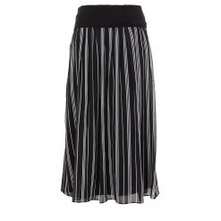 DKNY PULL ON MIDI SKIRT W/ KNIT WB P9FNRBNQ