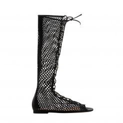 GIANVITO ROSSI UNTIL KNEE BOOT FLAT G50723.05CUO.NGI ΜΕΧΡΙ ΤΟ ΓΟΝΑΤΟ