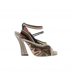 FENDI W.SANDAL/FABRIC/LEATHER SOLE 8X6859 A6RQ ΠΕΔΙΛΑ