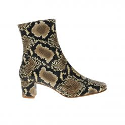 BY FAR Sofia Snake Print Leather bootie 19PFSOFBSPL ΜΕΣΑΙΟ